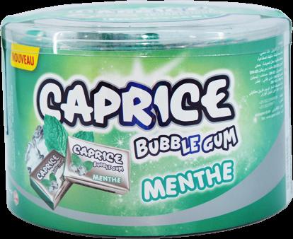 boite caprice bubble gum menthe