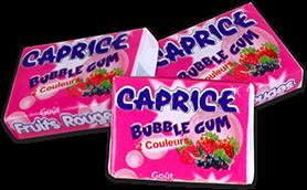 bubble gum caprice fruits rouges pièces