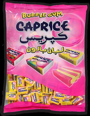 paquet bubble gum caprice deux couleurs