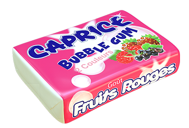 bubble gum fruits rouges