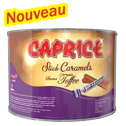 boite de caprice stick caramel toffee